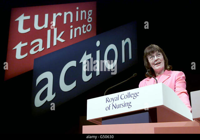RCN Congress Christine Hancock - Stock Image