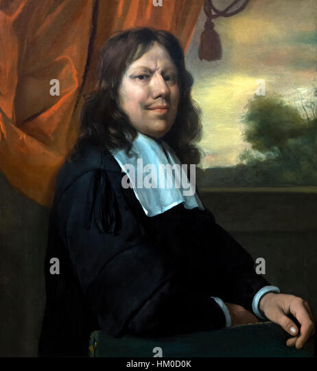 Self Portrait by Jan Steen, circa 1670, oil on canvas, Rijksmuseum, Amsterdam, Netherlands, Europe, - Stock Image