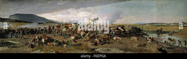 Marià Fortuny - The Battle of Wad Rass - Stock Image