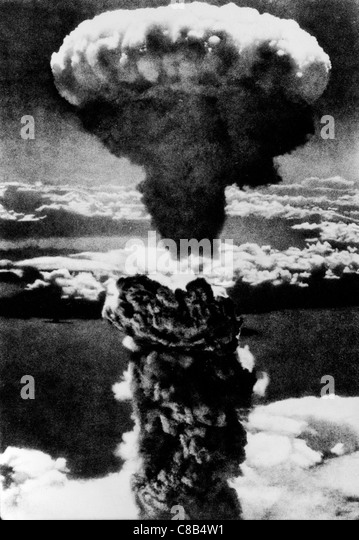 atomic explosion in Hiroshima,1945 - Stock-Bilder