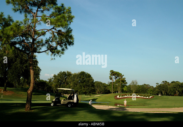 Tarpon Springs Florida Westin Innisbrook Resort Copperhead Golf Course 18th Hole - Stock Image