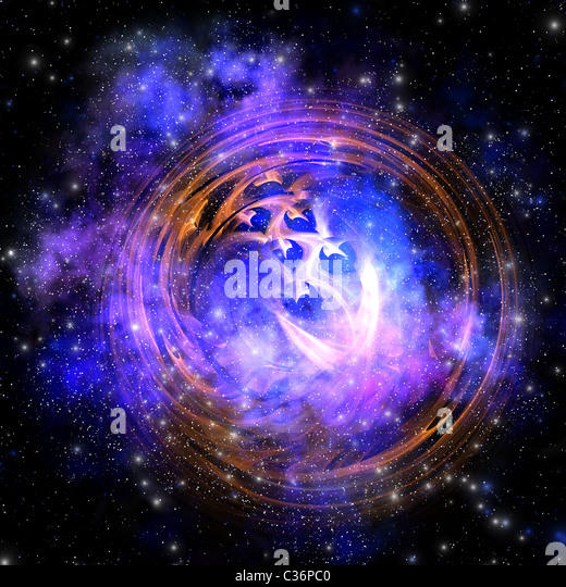 Leftover remnants from a supernova explosion. - Stock Image