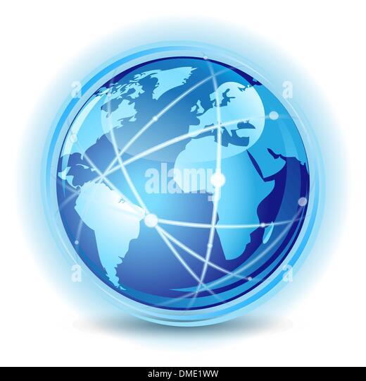 Global communication concept - Stock Image