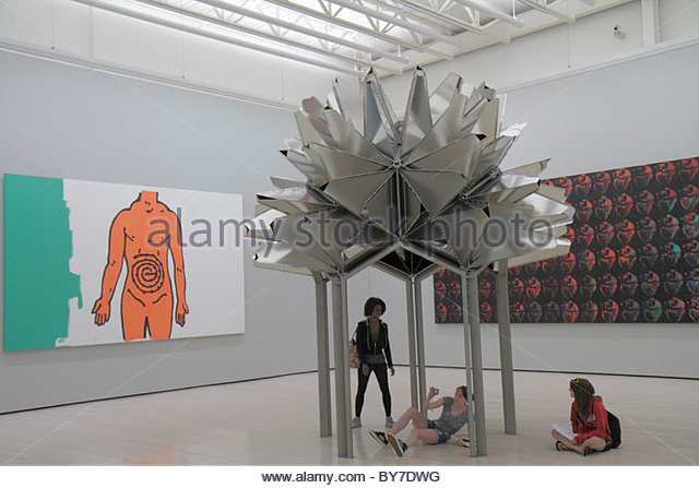 Baltimore Maryland Baltimore Museum of Art Wyman Park gallery exhibition collection contemporary sculpture Flower - Stock Image