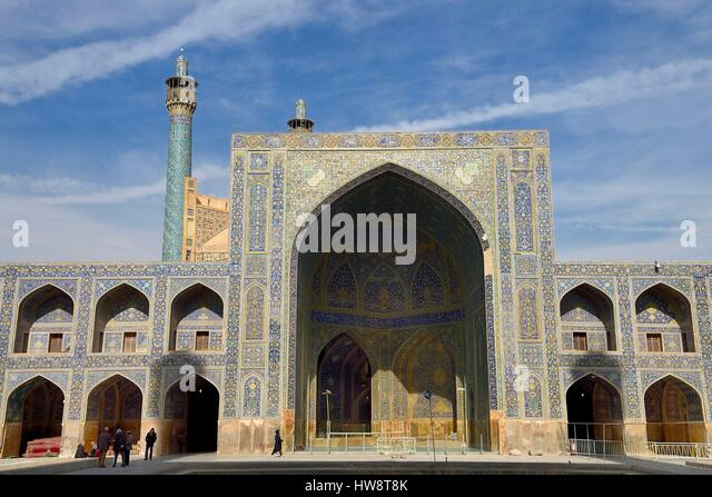 Iran, Isfahan Province, Isfahan, the Shah Mosque also known as Imam Mosque - Stock Image