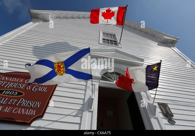 The Argyle Township Court House & Gaol, Tusket, Nova Scotia, Canada - Stock-Bilder