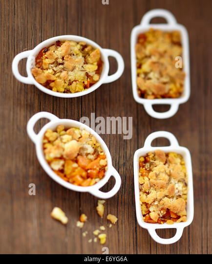 Carrot and cumin savoury crumbles - Stock Image