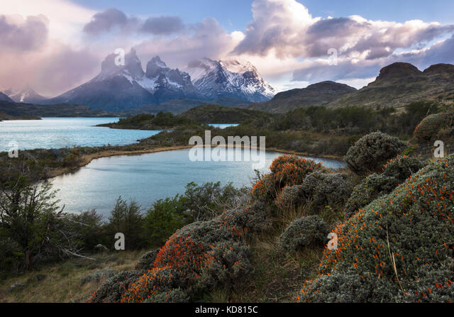 Torres del Paine National Park in Chile - Stock Image