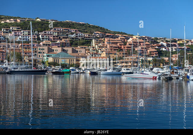 The port of Palau (Lu Palau) in the province of Sassari on the north coast of Sardinia, Italy. - Stock Image