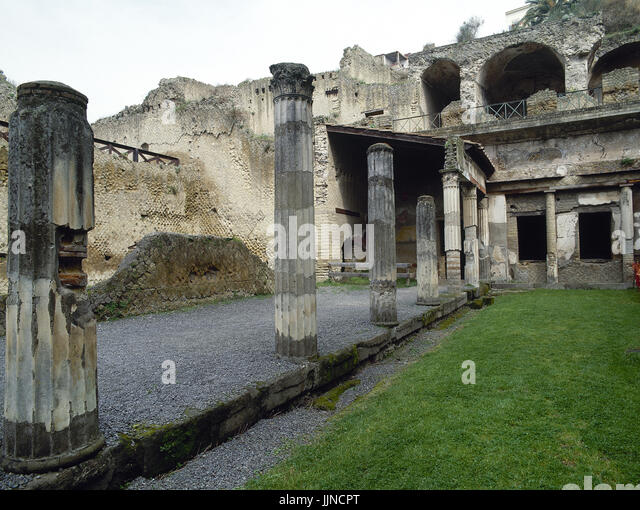 Italy. Herculaneum. Ruins of Palaestra (wrestling school). Campania. - Stock Image