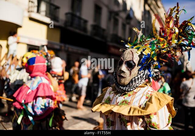 International Festival Iberian Mask, Lisbon, Portugal, Europe - Stock-Bilder