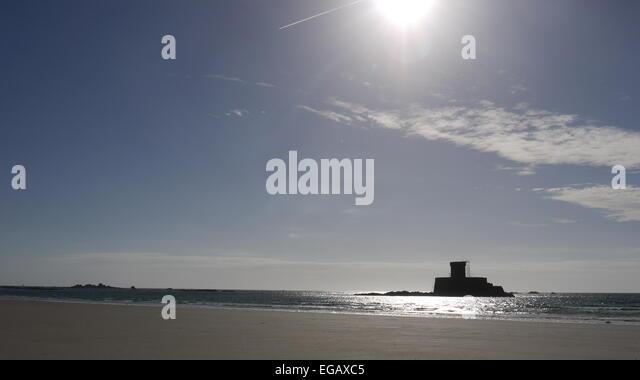 Rocco tower, St Ouens bay, Jersey,  UK - Stock-Bilder