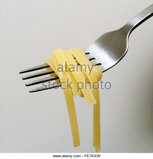 Pasta On Fork - Stock Image