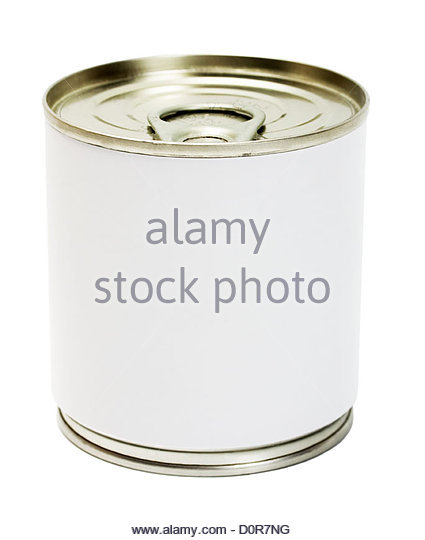 Food Can label - Stock Image