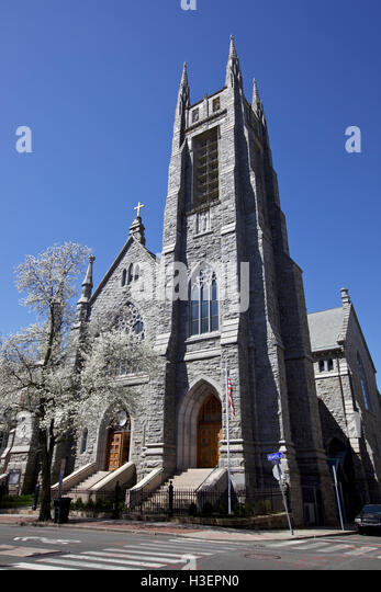 Catholic Church in Stamford, CT, USA - Stock Image