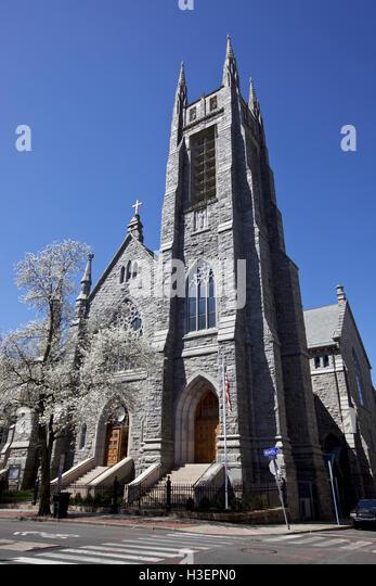 Catholic Church in Stamford, CT, USA - Stock Image