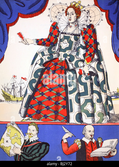 Elizabeth I, Queen of England from 1558, (1932). Artist: Rosalind Thornycroft - Stock Image