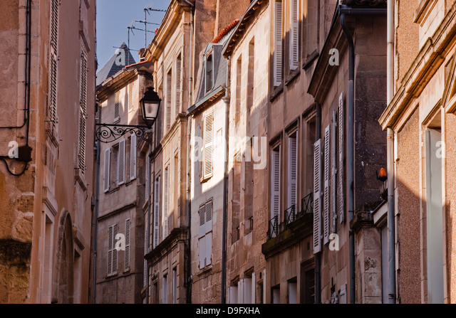 The small streets of the city of Poitiers, Vienne, Poitou-Charentes, France - Stock Image
