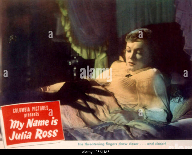 MY NAME IS JULIA ROSS, Nina Foch, 1945 - Stock Image