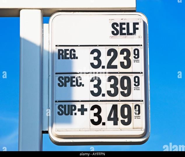 gasolene prices - Stock Image