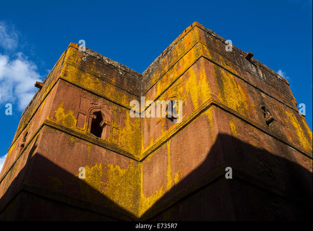 Monolithic Rock-cut Church Of Bete Giyorgis, Lalibela, Ethiopia - Stock Image