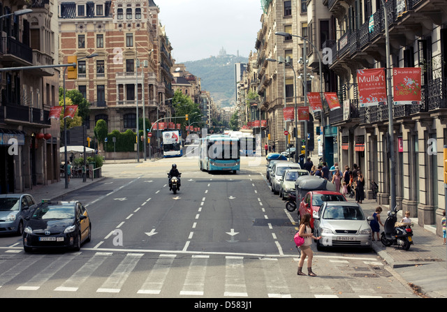 Barcelona street view, Catalonia, Spain - Stock Image