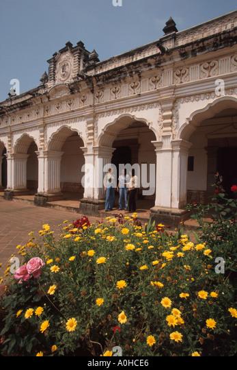 Guatemala La Antigua Colonial Museum Plaza de las Armas was originally University of San carlos - Stock Image