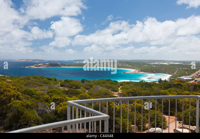 View of West Beach from Rotary Lookout at Wireless Hill. Esperance, Western Australia, Australia - Stock Image