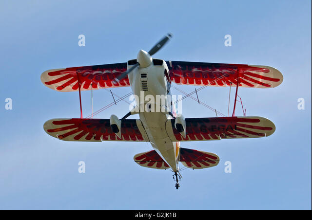 Chisten Eagle II Biplane, Goodwood Aerodrome, West Sussex, England - Stock-Bilder