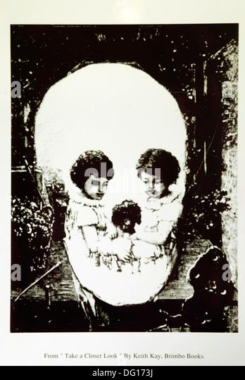 macabre and dreamlike print,Bodelwyddan Castle,Wales,United Kingdom,Great Britain,Europe - Stock Image
