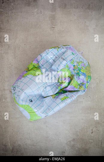Deflated world, climate change - Stock Image