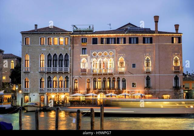 Canal Grande, Palazzo Morosini Sagredo,  Ca Sagredo Hotel , Venedig, Venezia, Venice, Italia, Europe, - Stock Image
