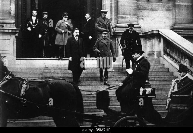 1EN 639 F1918 1 E George V in Paris 1918 Photo George V King of Great Britain and Ireland 1910 1936 1865 1936 During - Stock Image