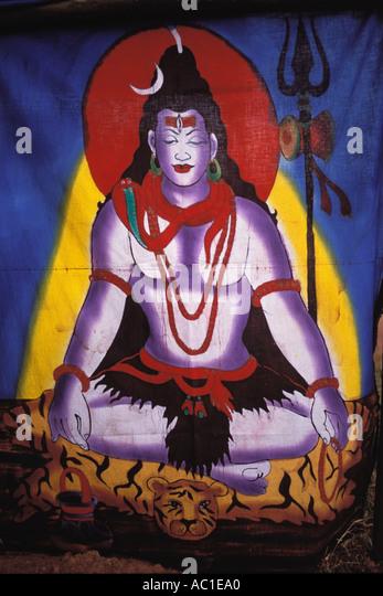 India, Goa, Krishna Fabric, Colva - Stock Image