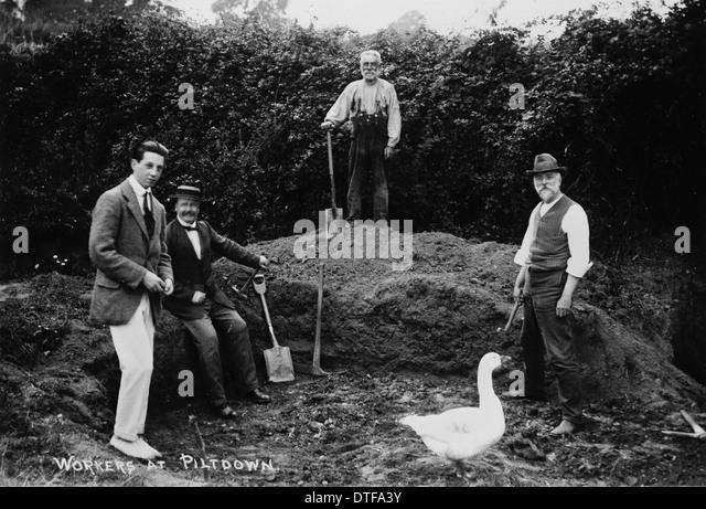 Workers at Piltdown - Stock-Bilder