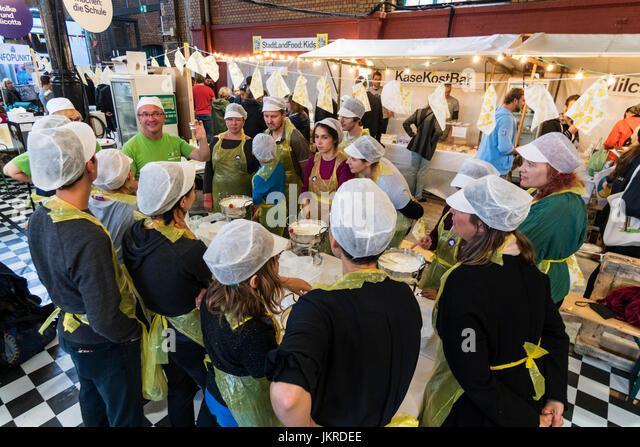 Markthalle 9, Food workshop, Kreuzberg, SO 36, Berlin - Stock Image
