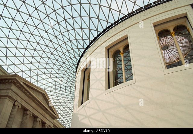 The Great Court in the British Museum in London England - Stock Image