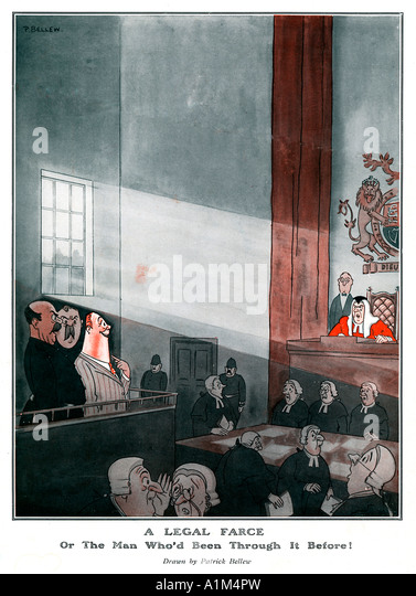 Judge court law cartoon stock photos judge court law for Farcical law
