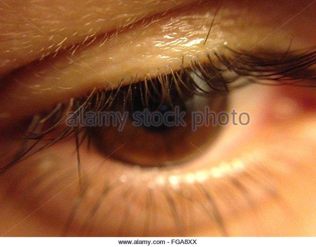 Extreme Close-Up Of Human Eye - Stock-Bilder