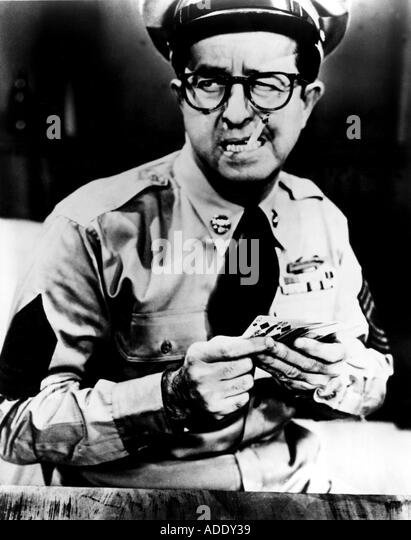SGT BILKO 1950 s comedy TV show with Phil Silvers as Sgt Bilko - Stock Image
