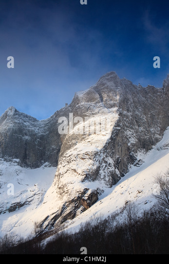 Landscape from the Romsdalen valley, Rauma kommune, Møre og Romsdal, Norway. - Stock Image