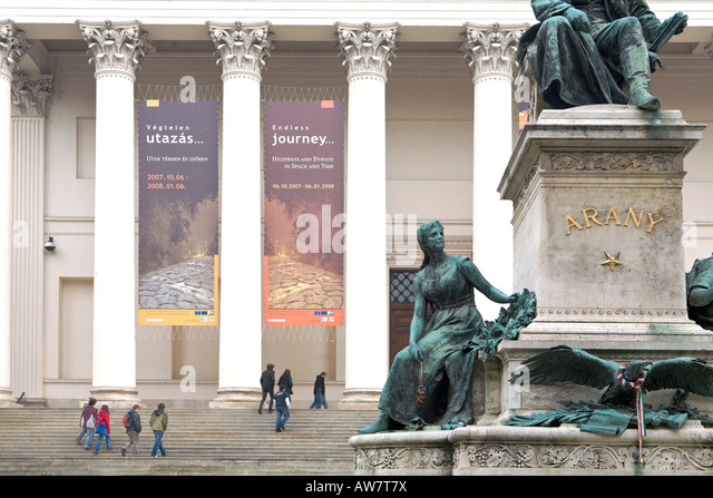 The Hungarian National Museum in Budapest - Stock Image