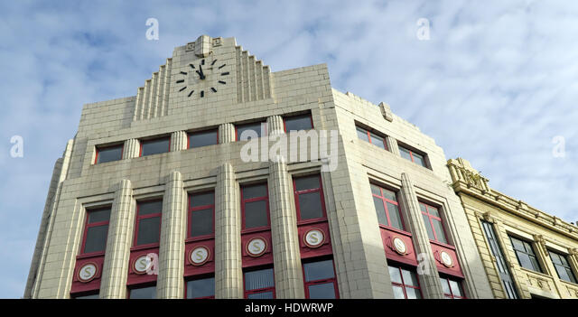 North St Belfast buildings,City Centre, Northern Ireland, UK - Stock Image