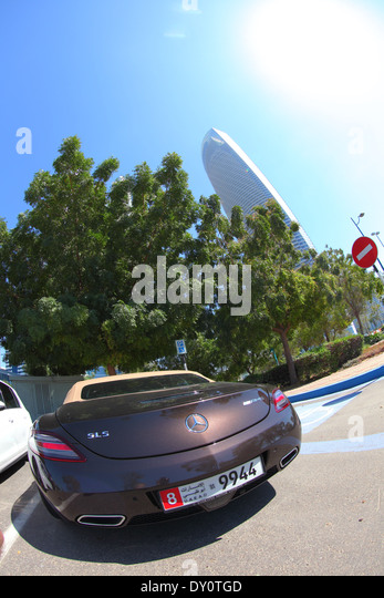 Abu Dhabi, city, streets, United Arab Emirates - Stock Image