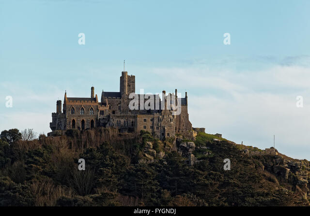 St Michael's Mount, Marazion, Penzance, Cornwall, England, UK - Stock Image