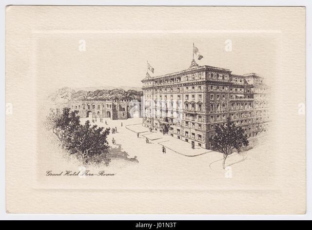 Grand Hotel Flora, Rome, Italy - Stock Image