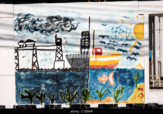 School children chile stock photos school children chile for Caldera mural orbis