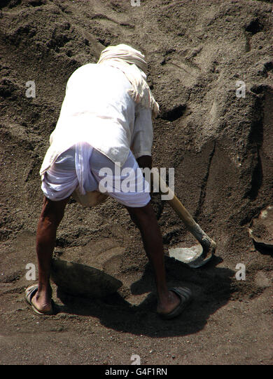 Construction worker in India - Stock Image