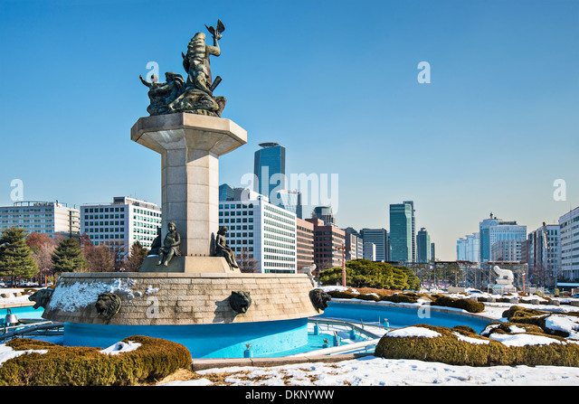 Seoul, South Korea cityscape from the Parliament Building. - Stock Image