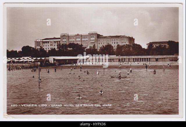 Hotel des Bains, Venice-Lido, Italy - Stock Image